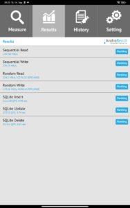 Xiaomi Mi PAd 5 Test Screenshots Lese- & Schreibraten