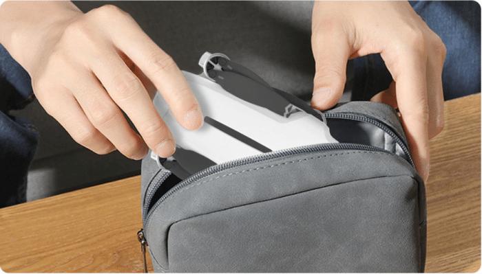 Fimi X8 Mini Klein und Kompakt schnell im Rucksack verstaut