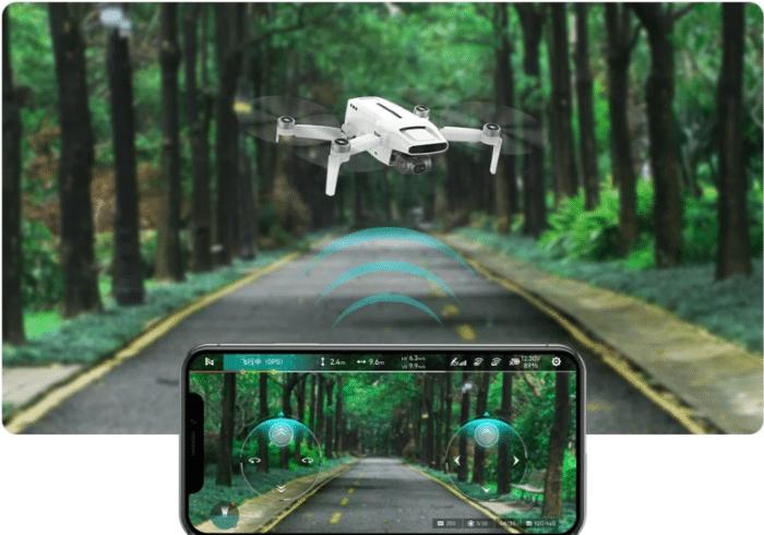 Fimi X8 Mini Fliegen direkt in der App ohne Fernbedienung