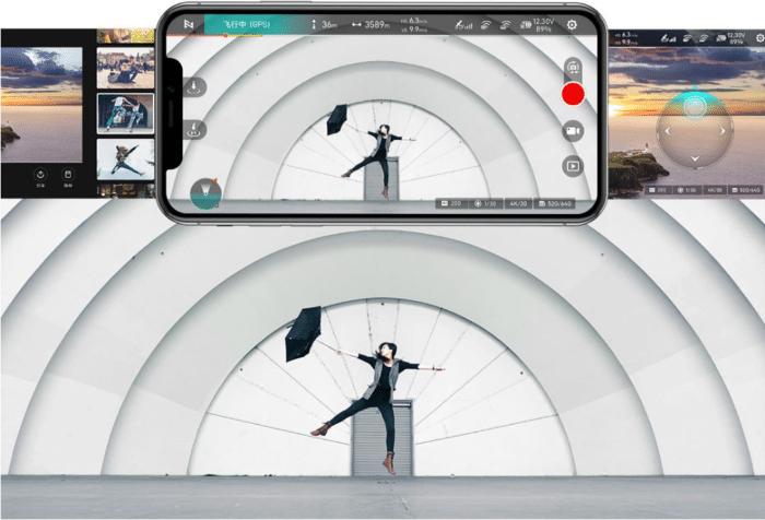 Fimi X8 Mini App mit Smarten Funktionen und Einstellungen