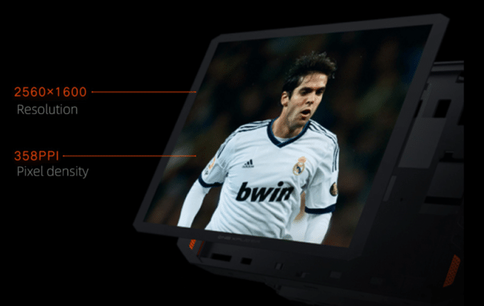 One Netbook ONEXPLAYER 1S Display mit 2560x1600 Auflösung