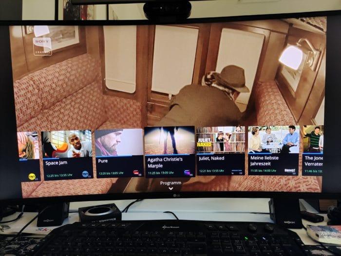 Waipu.Tv 4k Stick TV Pogramme in Betrieb